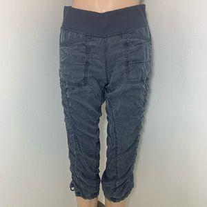 Lululemon Gray Cool Down Crop Pants Sz 4